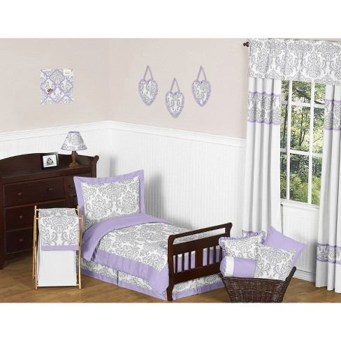 Sweet Jojo Designs 5pc Lavender Elizabeth Toddler Bedding Set