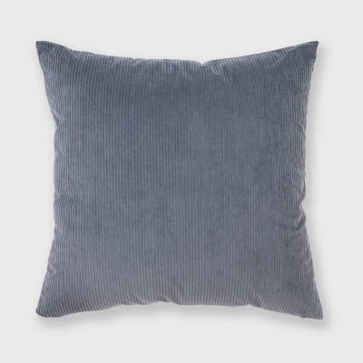 """18""""x18"""" Solid Ribbed Textured Throw Pillow Dusty Blue - Freshmint"""