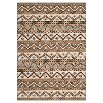 Elche Area Rug - Creme/Brown (5'3 x7'7 )- Safavieh®