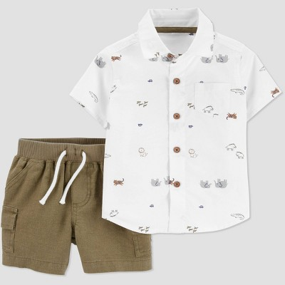 Baby Boys' 2pc Elephant Top & Bottom Set - Just One You® made by carter's Green Newborn