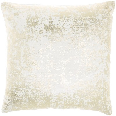 "20""x20"" Oversize Luminescence Distressed Metallic Square Throw Pillow - Mina Victory"