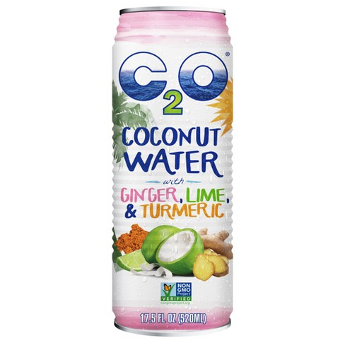 C2O Ginger Lime Turmeric Coconut Water - 17.5 fl oz Can - image 1 of 2