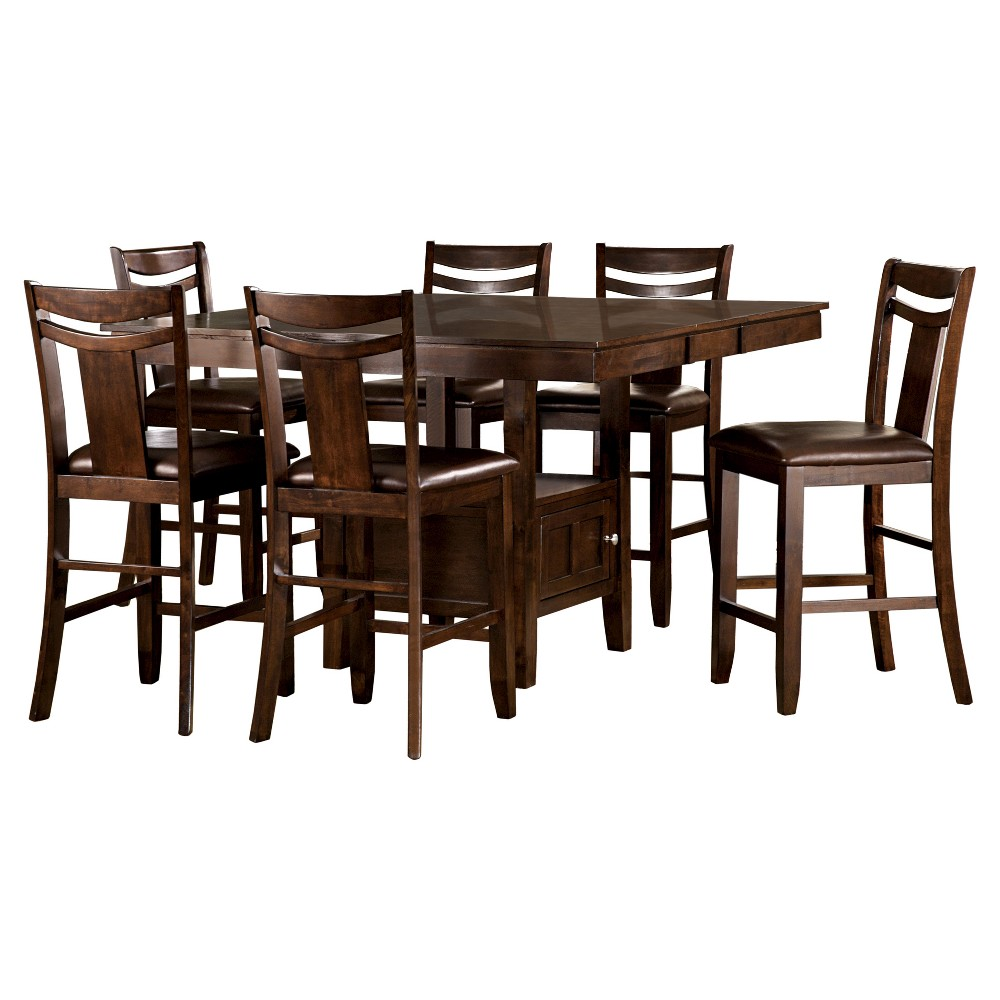 7pc Dewey Counter Height Dining Set - Brown - Inspire Q