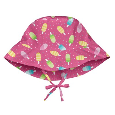 i play Baby Girls' Sun Protection Bucket Hat - Pink M/L