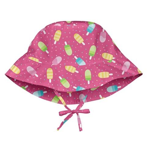 b32c51ab9 i play Baby Girls' Sun Protection Bucket Hat - Pink