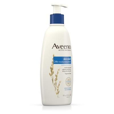 Unscented Aveeno 24hr Skin Relief Moisture Lotion - 18 fl oz
