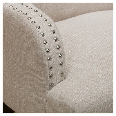 Filmore Fabric Armchair Light Beige - Christopher Knight Home : Target