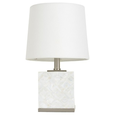 Capiz Basketweave Tile Accent Lamp Shell Lamp Only - Threshold™
