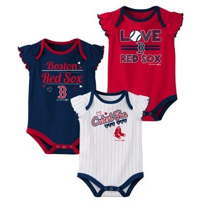 Boston Red Sox Girls' Bodysuit 3pk - 0-3M