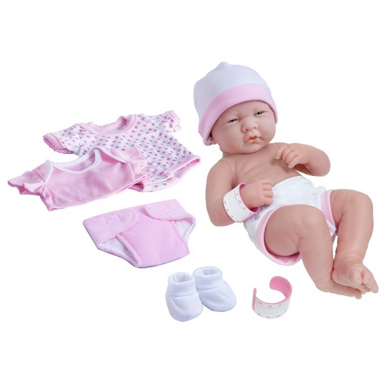 """JC Toys La Newborn 14"""" Baby Doll - Layette image number null"""
