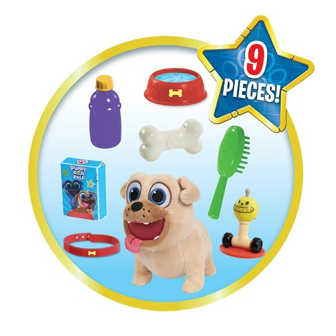 Puppy Dog Pals 9pc Rolly Groom Go Pet Carrier Target