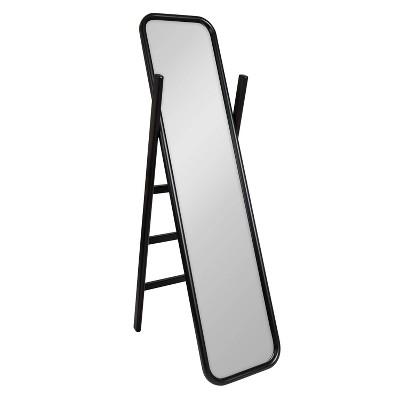 "16"" x 58"" Loki Wooden Standing Ladder Mirror Black - Kate and Laurel"