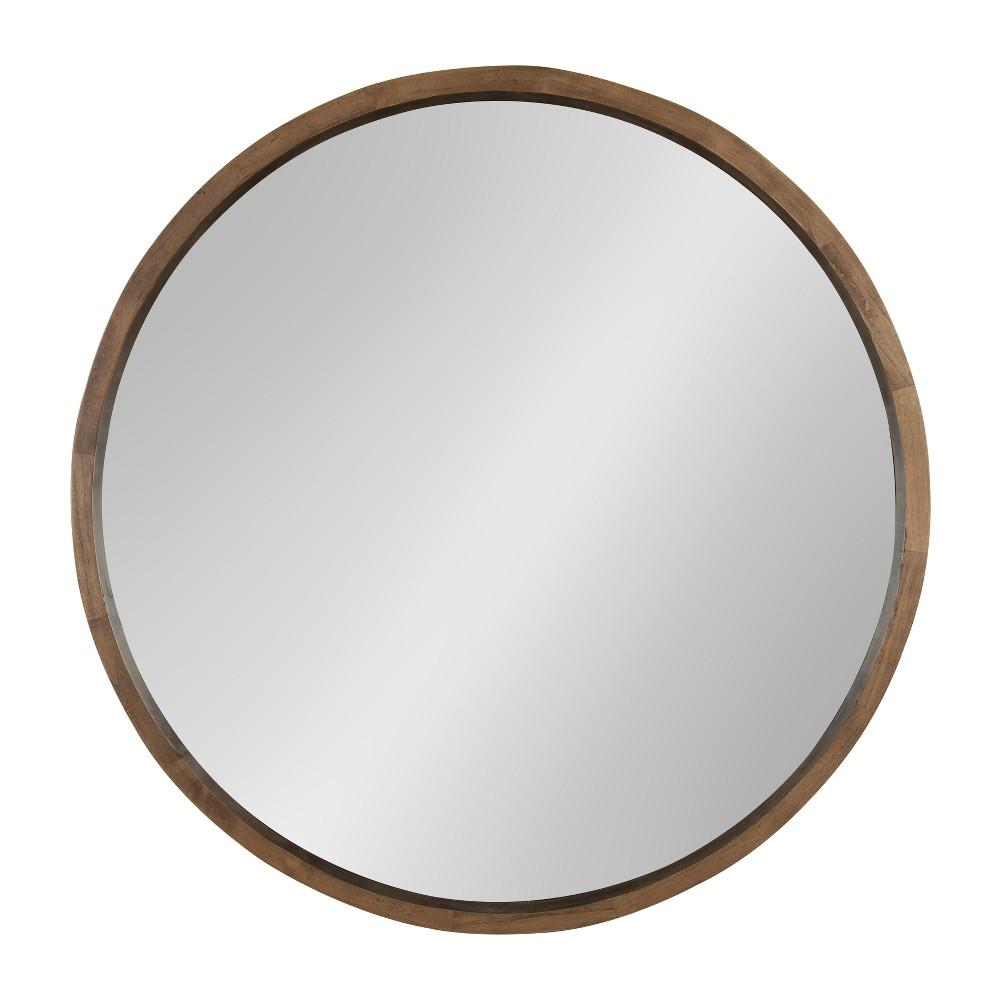 "Image of ""Kate & Laurel 29""""x29"""" Decorative Wall Mirror Rustic Rye"""
