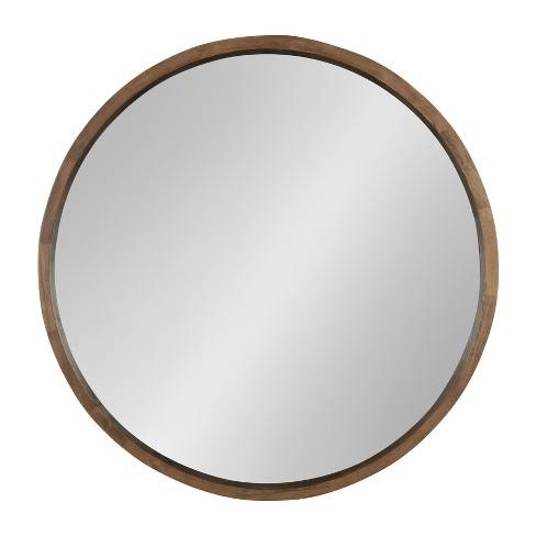 Kate And Laurel Hutton Round Decorative Wood Frame Wall Mirror Target