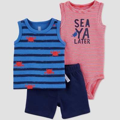 Baby Boys' Crab Top & Bottom Set - Just One You® made by carter's Red/Blue 12M