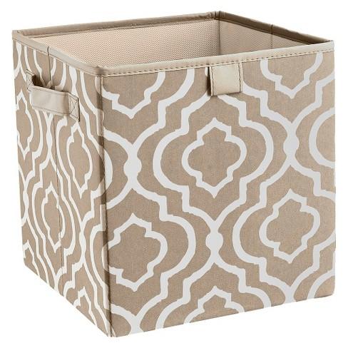 Closetmaid Decorative Fabric Cube Storage Bin Graystone Iron Gate Target