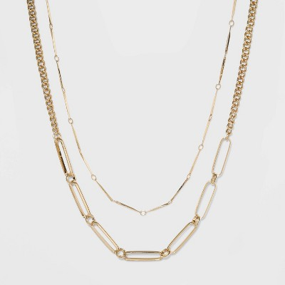 Two Row Layered Necklace - A New Day™ Gold