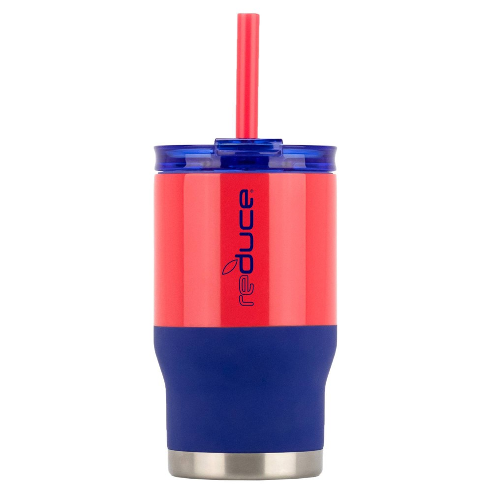 Image of Reduce 14oz Coldee Dual Finish Water Bottle Navy/Red, Blue/Red