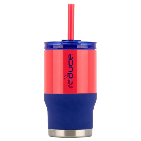 Reduce 14oz Coldee Dual Finish Water Bottle Navy/Red - image 1 of 5