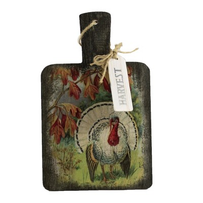 """Thanksgiving 11.0"""" Trivet With Handle Fall Turkey  -  Wall Sign Panels"""