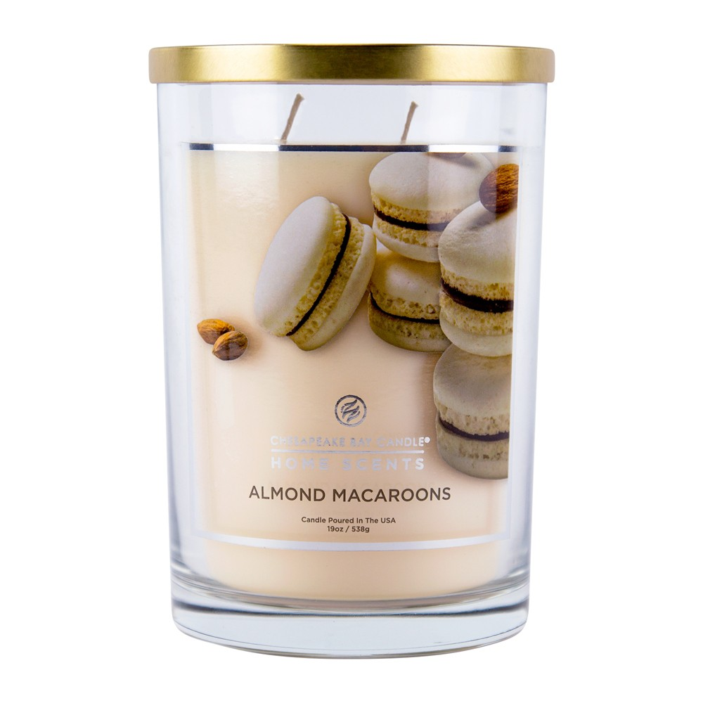 Image of 19oz Glass Jar 2-Wick Candle Almond Macaroons - Home Scents By Chesapeake Bay Candle, Beige