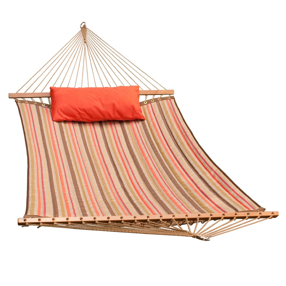 Image of 11' Reversible Sunbrella Quilted Hammock with Pillow - Orange - Algoma