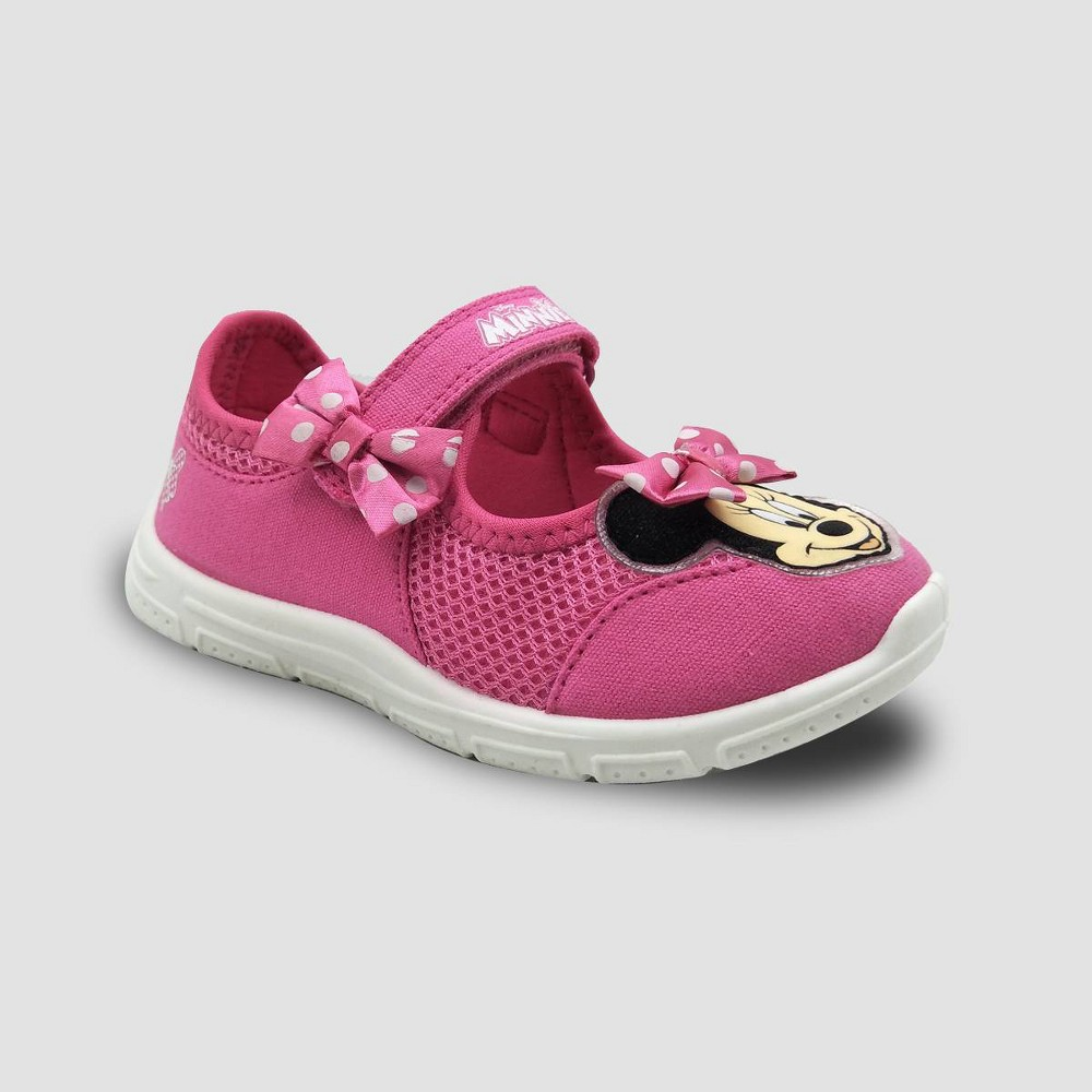 Toddler Girls' Disney Minnie Mouse Mary Jane Sneakers - Pink 8
