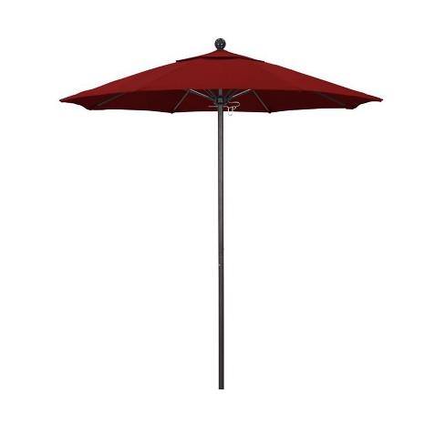 Venture 7.5' Bronze Market Umbrella in Red - California Umbrella - image 1 of 1