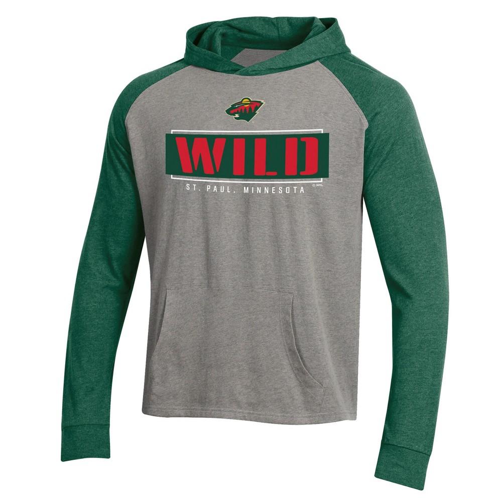 Minnesota Wild Men's Faceoff Gray/Lightweight Hoodie - Xxl, Multicolored