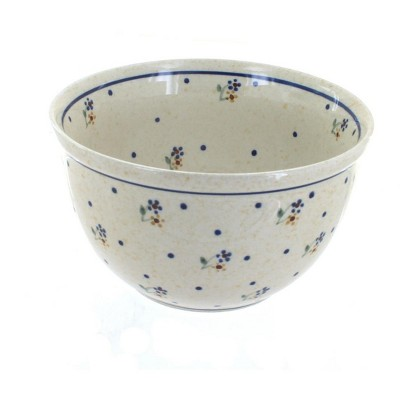 Blue Rose Polish Pottery Country Meadow Small Mixing Bowl