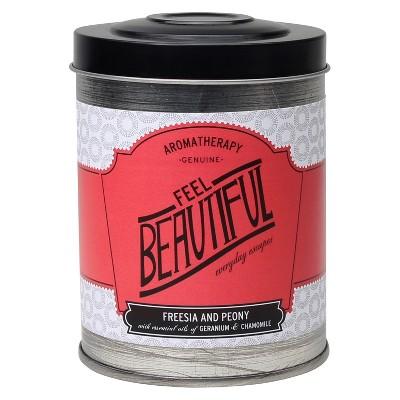 8.6oz Lidded Tin Jar Candle Feel Beautiful - Aromatherapy