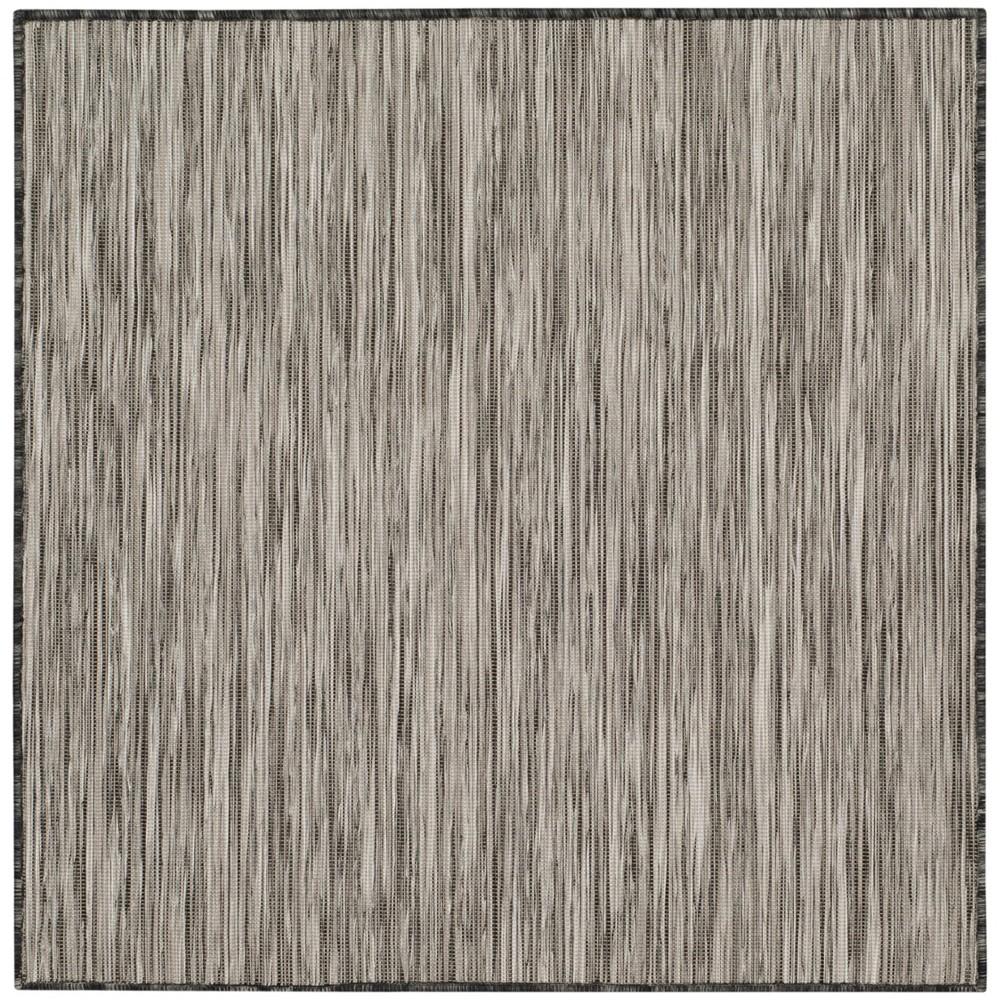 6'7X9' Loomed Solid Area Rug Black - Safavieh, Black/Gray