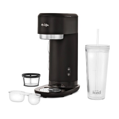 Mr. Coffee Single-Serve Iced and Hot Coffee Maker with Reusable Tumbler and Filter - Black