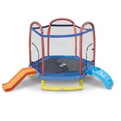 Little Tikes Climb and Slide Trampoline - 7ft, Kids Unisex