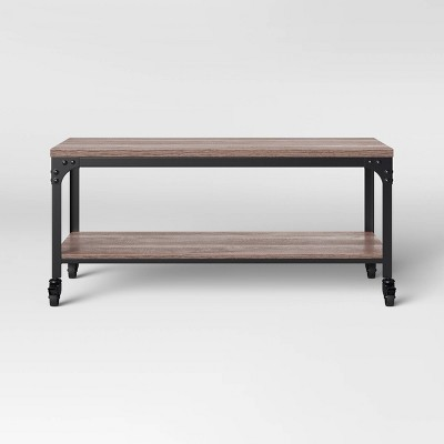 Jackman Industrial Wood Coffee Table Brown - Threshold™