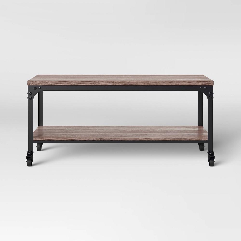Jackman Industrial Wood Coffee Table Brown Threshold 8482