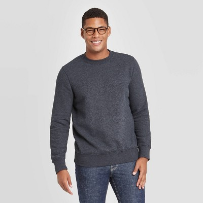 Men's Regular Fit Crew Fleece - Goodfellow & Co™ Gray
