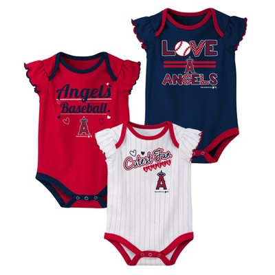 Los Angeles Angels Girls' Bodysuit 3pk - 6-9M