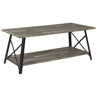 Harzoni Rectangular Cocktail Table Grayish Brown - Signature Design by Ashley