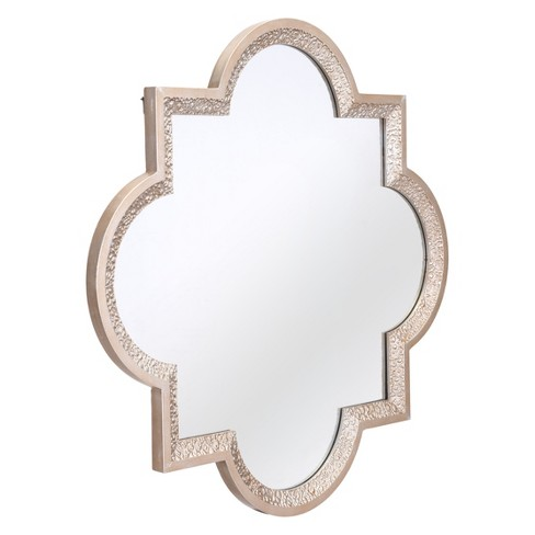 "ZM Home 32"" Global Quatrefoil Mirror Silver - image 1 of 2"