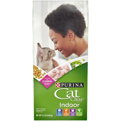 Purina Cat Chow Indoor with Chicken Adult Complete & Balanced Dry Cat Food - 6.3lbs