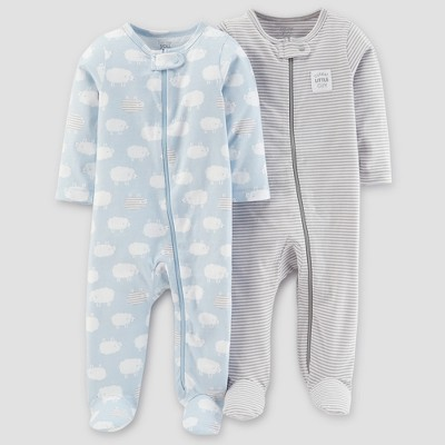Baby Boys' 2pk Sleep N' Play - Just One You® made by carter's Blue Sheep Newborn