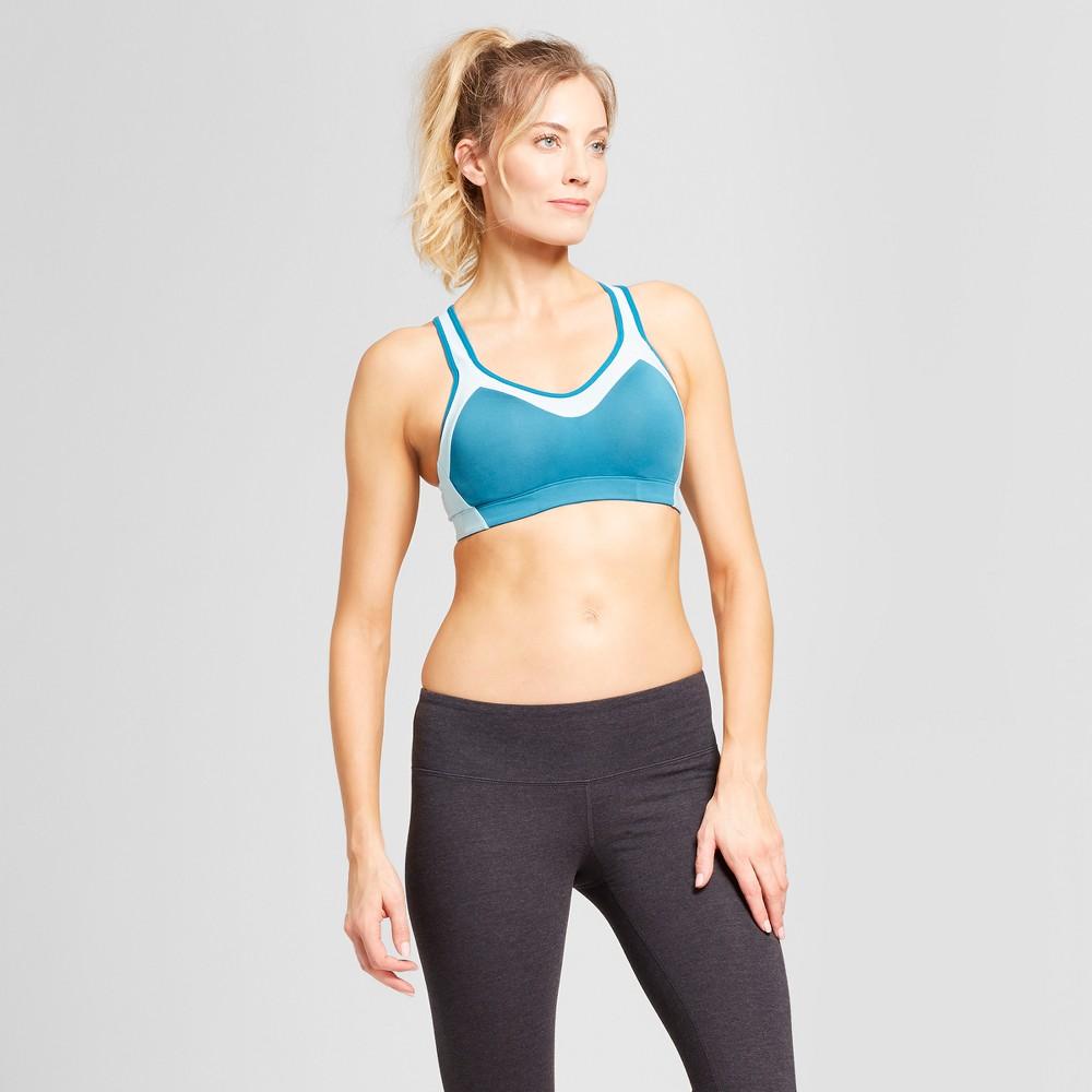 Women's Power Shape Medium Support Sports Bra - C9 Champion Mermaid Teal S