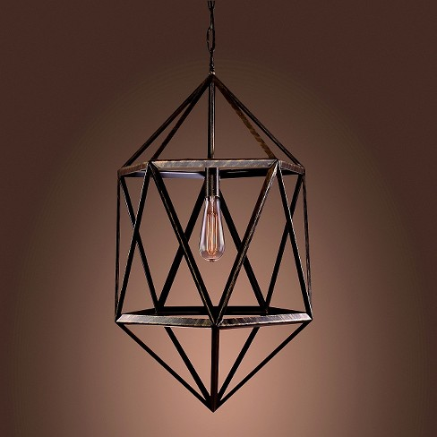Warehouse Of Tiffany Pendant Ceiling Lights -Black - image 1 of 1