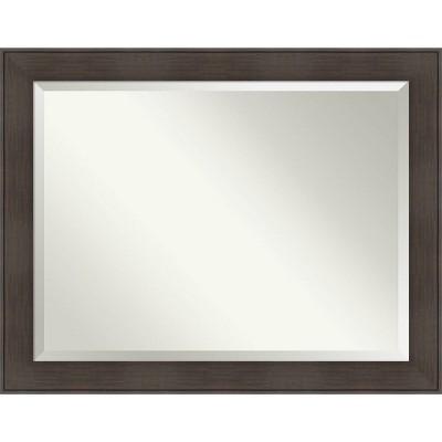 William Framed Bathroom Vanity Wall Mirror Espresso - Amanti Art