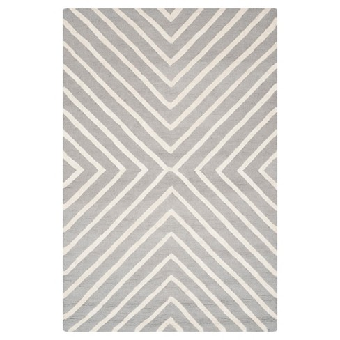 Harper Textured Area Rug Silver Ivory
