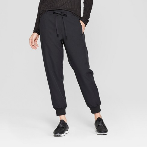Women's Straight Leg Cuffed Lounge Pants - Prologue™ Black - image 1 of 3