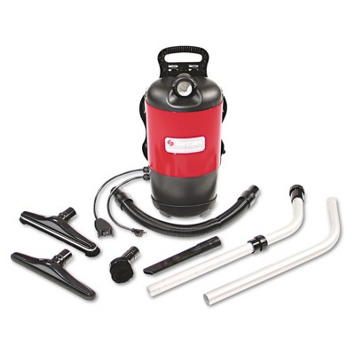 Sanitaire SC412A TRANSPORT QuietClean 11.5 lbs. Backpack Vacuum - Red