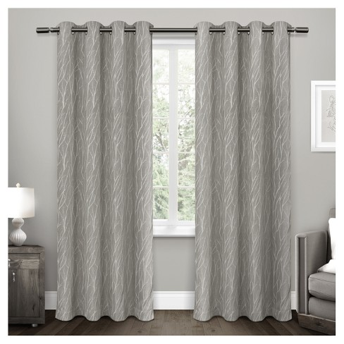 Forest Hill Woven Room Darkening Grommet Top Window Curtain Panel
