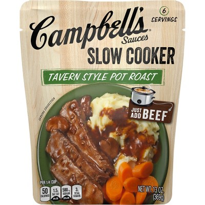 Campbell's Slow Cooker Sauces Tavern Style Pot Roast 13oz